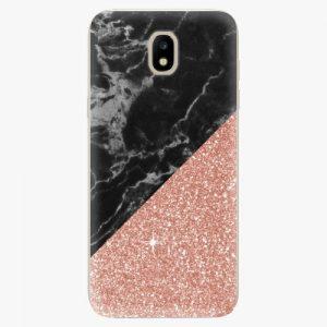 Plastový kryt iSaprio - Rose and Black Marble - Samsung Galaxy J5 2017