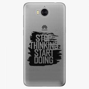 Plastový kryt iSaprio - Start Doing - black - Huawei Y5 2017 / Y6 2017