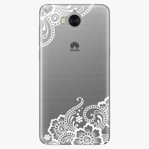 Plastový kryt iSaprio - White Lace 02 - Huawei Y5 2017 / Y6 2017