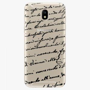 Plastový kryt iSaprio - Handwriting 01 - black - Samsung Galaxy J5 2017