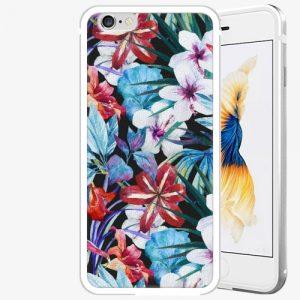 Plastový kryt iSaprio - Tropical Flowers 05 - iPhone 6 Plus/6S Plus - Silver