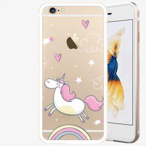Plastový kryt iSaprio - Unicorn 01 - iPhone 6/6S - Gold
