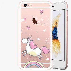 Plastový kryt iSaprio - Unicorn 01 - iPhone 6 Plus/6S Plus - Rose Gold