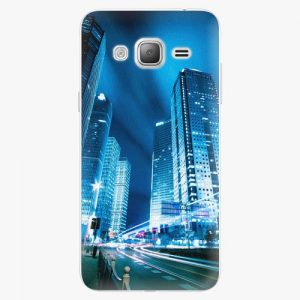 Plastový kryt iSaprio - Night City Blue - Samsung Galaxy J3 2016
