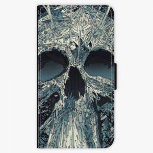 Flipové pouzdro iSaprio - Abstract Skull - Huawei P10 Plus