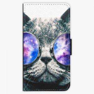 Flipové pouzdro iSaprio - Galaxy Cat - Huawei P10 Plus