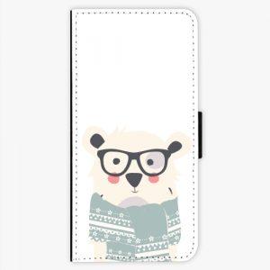 Flipové pouzdro iSaprio - Bear with Scarf - Samsung Galaxy S8