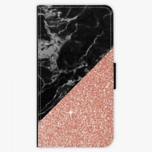 Flipové pouzdro iSaprio - Rose and Black Marble - Huawei P10 Plus
