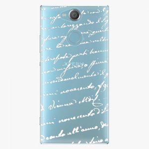Plastový kryt iSaprio - Handwriting 01 - white - Sony Xperia XA2