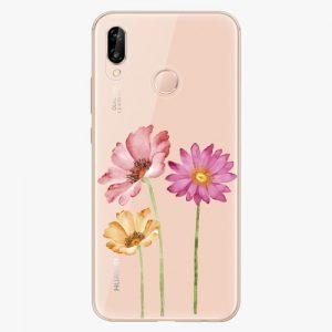 Plastový kryt iSaprio - Three Flowers - Huawei P20 Lite