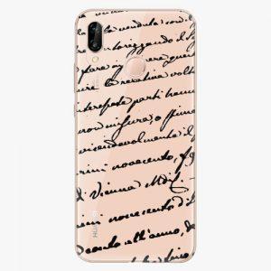 Plastový kryt iSaprio - Handwriting 01 - black - Huawei P20 Lite