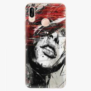 Plastový kryt iSaprio - Sketch Face - Huawei P20 Lite