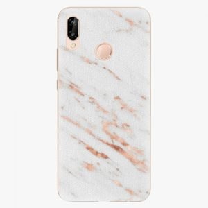 Plastový kryt iSaprio - Rose Gold Marble - Huawei P20 Lite