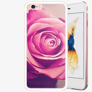 Plastový kryt iSaprio - Pink Rose - iPhone 6 Plus/6S Plus - Rose Gold