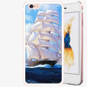 Plastový kryt iSaprio - Sailing Boat - iPhone 6 Plus/6S Plus - Rose Gold