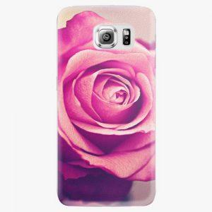 Plastový kryt iSaprio - Pink Rose - Samsung Galaxy S6 Edge