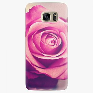Plastový kryt iSaprio - Pink Rose - Samsung Galaxy S7 Edge