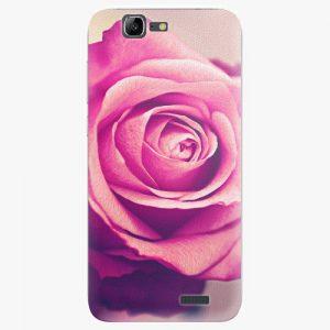 Plastový kryt iSaprio - Pink Rose - Huawei Ascend G7
