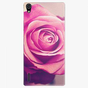 Plastový kryt iSaprio - Pink Rose - Huawei Ascend P7
