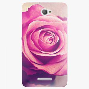 Plastový kryt iSaprio - Pink Rose - Sony Xperia E4