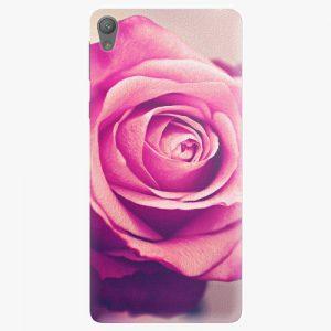 Plastový kryt iSaprio - Pink Rose - Sony Xperia E5