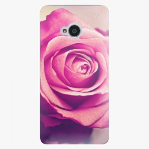 Plastový kryt iSaprio - Pink Rose - HTC One M7