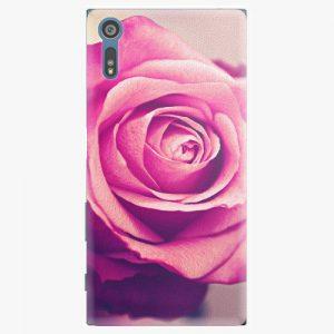 Plastový kryt iSaprio - Pink Rose - Sony Xperia XZ