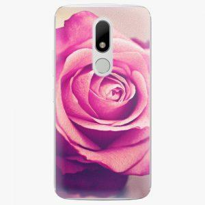 Plastový kryt iSaprio - Pink Rose - Lenovo Moto M