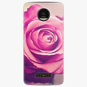 Plastový kryt iSaprio - Pink Rose - Lenovo Moto Z