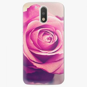 Plastový kryt iSaprio - Pink Rose - Lenovo Moto G4 / G4 Plus