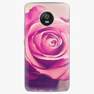Plastový kryt iSaprio - Pink Rose - Lenovo Moto G5