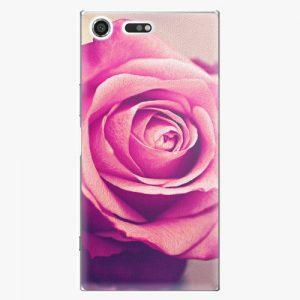 Plastový kryt iSaprio - Pink Rose - Sony Xperia XZ Premium