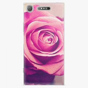 Plastový kryt iSaprio - Pink Rose - Sony Xperia XZ1