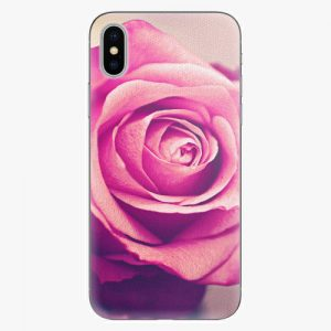 Plastový kryt iSaprio - Pink Rose - iPhone X