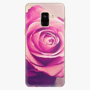 Plastový kryt iSaprio - Pink Rose - Samsung Galaxy A8 2018