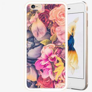 Plastový kryt iSaprio - Beauty Flowers - iPhone 6 Plus/6S Plus - Gold