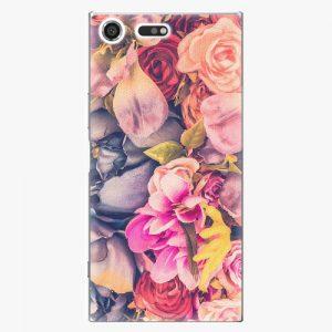 Plastový kryt iSaprio - Beauty Flowers - Sony Xperia XZ Premium