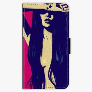 Flipové pouzdro iSaprio - Cartoon Girl - Samsung Galaxy A5