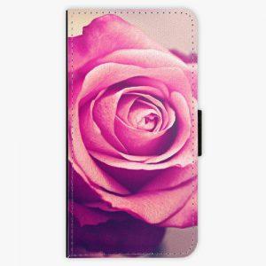 Flipové pouzdro iSaprio - Pink Rose - Huawei Ascend P8