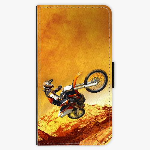 Flipové pouzdro iSaprio - Motocross - Huawei P10 Plus