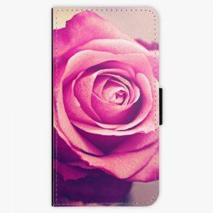 Flipové pouzdro iSaprio - Pink Rose - Huawei P10 Plus