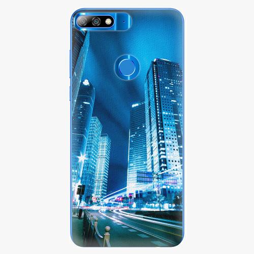 Plastový kryt iSaprio - Night City Blue - Huawei Y7 Prime 2018
