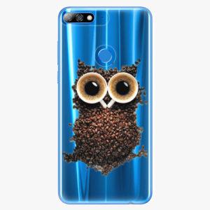 Plastový kryt iSaprio - Owl And Coffee - Huawei Y7 Prime 2018