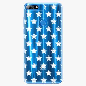 Plastový kryt iSaprio - Stars Pattern - white - Huawei Y7 Prime 2018