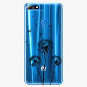 Plastový kryt iSaprio - Three Dandelions - black - Huawei Y7 Prime 2018