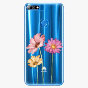 Plastový kryt iSaprio - Three Flowers - Huawei Y7 Prime 2018