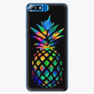 Plastový kryt iSaprio - Rainbow Pineapple - Huawei Y7 Prime 2018