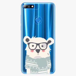 Plastový kryt iSaprio - Bear with Scarf - Huawei Y7 Prime 2018