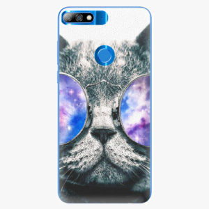 Plastový kryt iSaprio - Galaxy Cat - Huawei Y7 Prime 2018
