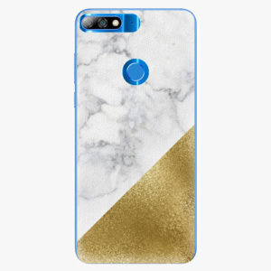 Plastový kryt iSaprio - Gold and WH Marble - Huawei Y7 Prime 2018